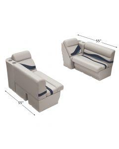 "Wise WS14037 Premier Pontoon 36"" Bench & Lean Back Set"