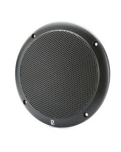 """PolyPlanar Poly-Planar MA4054 4"""" Round Two Way Marine Speaker (Black)"""