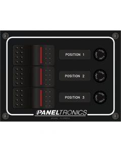 DC 4-Position Illum Rocker Switch /& Fuse Paneltronics Waterproof Panel