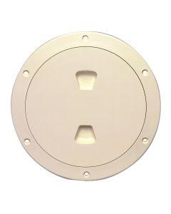Beckson 6 Smooth Center Screw-Out Deck Plate - Beige