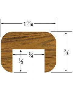 "Whitecap Cap Molding 7/8""H x 1-3/16""W, 5' length"