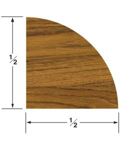 "Whitecap Quarter Round Molding 1/2""H x 1/2""W, 5' length"