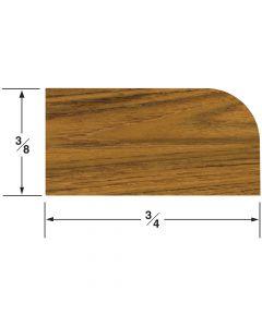 "Whitecap Large Stop Molding 3/8""H x 3/4W, 5' length"
