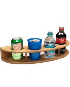 Whitecap Teak Curved Four-Drink Rack