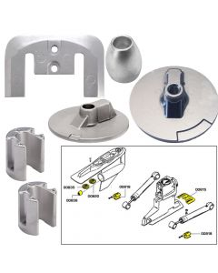 Tecnoseal Anode Kit w/Hardware - Mercury Bravo 3 2004 - Magnesium