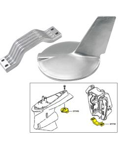 Tecnoseal Anode Kit w/Hardware - Yamaha 200-300HP Hi-Performance - Zinc