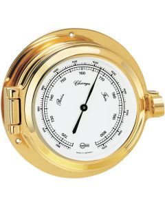Barigo Poseidon Series Porthole Ship's Barometer - Brass Housing - 3.3 Dial