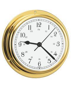 Barigo Viking Series Quartz Ship's Clock - Brass Housing - 5 Dial