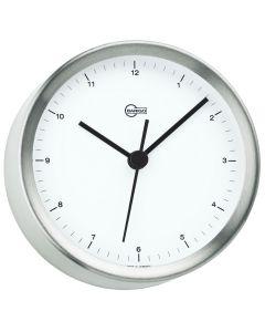 Barigo Steel Series Quartz Ship's Clock - Stainless Steel Housing - 4 Dial