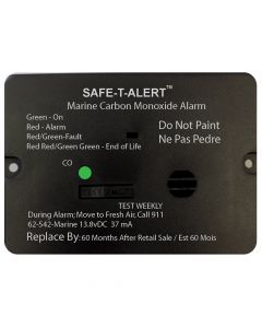 Safe-T-Alert 62 Series Carbon Monoxide Alarm w/Relay - 12V - 62-542-Marine-PLY-NC - Flush Mount - Black