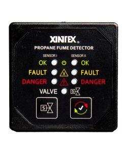 Fireboy Xintex Propane Fume Detector w/2 Plastic Sensors - No Solenoid Valve - Square Black Bezel Display