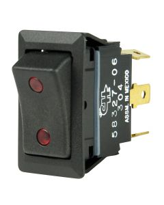 BEP SPDT Rocker Switch - 2-LEDs - 12V/24V - ON/OFF/ON