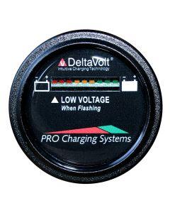 Dual Pro Battery Fuel Gauge - DeltaView® Link Compatible - 24V System (2-12V Batteries, 4-6V Batteries)