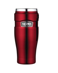 Thermos Stainless King™ Vacuum Insulated Travel Tumbler - 16 oz. - Stainless Steel/Cranberry