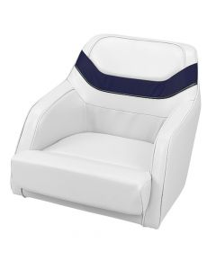 Liquidation Bucket Seat, White/ Charocal/ Navy Blue - Wise Seat