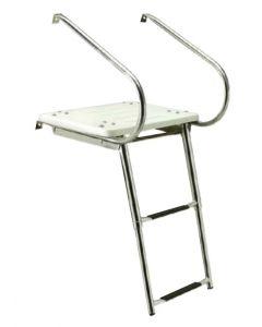 Deluxe Universal Swim Platform with Slide Mount Telescoping Boat Ladders - Seachoice Boat Swim Platforms