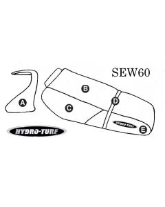 Kawasaki ZXi (95-97) Seat Cover + Cowling Cover PWC Seat Cover by Hydro-Turf®