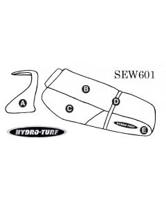Kawasaki ZXi 1100 (98-03) Seat Cover + Cowling Cover PWC Seat Cover by Hydro-Turf®