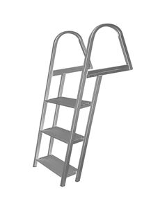 JIF Marine, LLC - ASE 3 Step Ladder, Aluminum, Mounting Hardware Included
