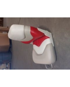 Liquidation OEM Sun Tracker Scarlet Kit Chair with Sun Tracker Logo, Gray-White-Red