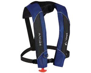 Onyx Adult Blue Type 5 Automatic Manual 24 Inflatable Life Jacket