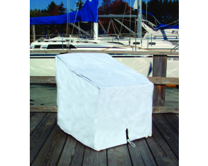 """Taylor Made Deck Chair Cover, White, 29""""H x 26""""W x 29.5""""D"""