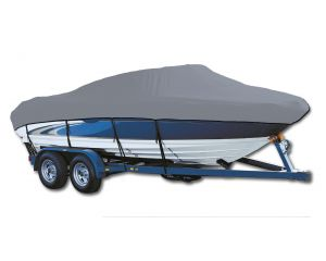 2000 Crestliner Rampage 1800 No Shield Bimini Stored Aft O/B Exact Fit® Custom Boat Cover by Westland®
