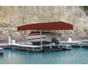 Rush-Co Marine Hewitt Boat Lift Canopy Covers Deluxe Front