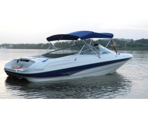 """Carver® 3 Bow Round Tube Bimini Top - Fits 91""""-96"""" Width x 46"""" Height x 6' Length"""