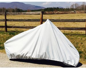 """Carver® Styled-to-Fit Sport Bike Motorcycle Cover - Fits 92"""" Length, Up to 27"""" Width Saddlebags, Low/No Windshield"""