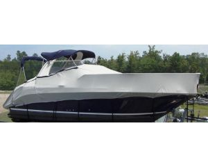 "Carver® Specialty Boat Cover For Cabin Cruisers w/ Radar Arch - Fits 25'6"" Centerline x 120"" Beam Width"