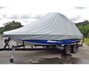 Carver® Over-the-Tower Boat Cover - Fits Deck Boats