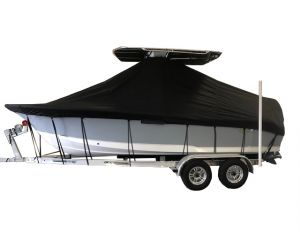 2019 STINGRAY 236CC UNDER THE T-TOP W/HARD T-TOP W/SIN Custom Fit™ Boat Cover by Carver®
