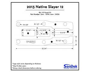 Native Watercraft - Slayer 12 - 2013 Kayak Non-Skid Pad by SeaDek®