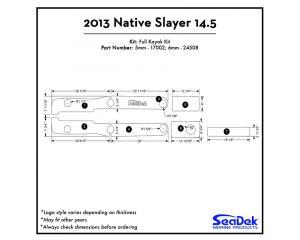 Native Watercraft - Slayer 14.5 - 2013 Kayak Non-Skid Pad by SeaDek®