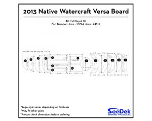 Native Watercraft - Versa Board - 2013 Kayak Non-Skid Pad by SeaDek®