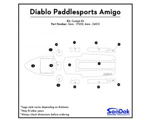 Diablo Paddlesports - Amigo Kayak Non-Skid Pad by SeaDek®