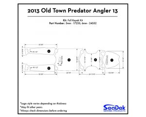 Old Town - Predator Angler 13 - 2013 Kayak Non-Skid Pad by SeaDek®