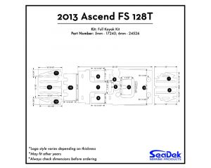 Ascend - FS128T - 2013 Kayak Non-Skid Pad by SeaDek®
