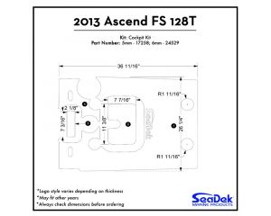 Ascend - FS128T Cockpit Kit - 2013 Kayak Non-Skid Pad by SeaDek®