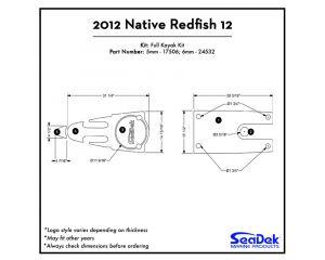 Native Watercraft - Redfish 12 - 2012 Kayak Non-Skid Pad by SeaDek®