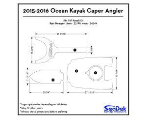 Ocean Kayak - Caper Angler - 2015-2016 Kayak Non-Skid Pad by SeaDek®