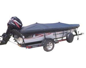 "Semi-Custom Boat Cover by Shoretex® - Fits Flat Nose Jon Boat - 12'6""-21'6"" Centerline x 50""-96"" Beam Width"
