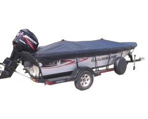 """Semi-Custom Boat Cover by Shoretex® - Fits Blunt Nose Inflatable - 7'6""""-18'6"""" Centerline x 56""""-80"""" Beam Width"""