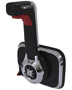 Xtreme Center Console Control, Black with Engine Cut Off Switch, Trim Switch - SeaStar Solutions