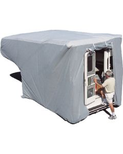 Adco Products Sfs Trck-Cmpr Cvr Med-Qn 8-10' - Truck Camper Cover, Gray Sfs Aquashed&Reg; Top/Gray Polypropylene Sides