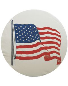 Adco Products Us Flag Tire Cvr A 34  White