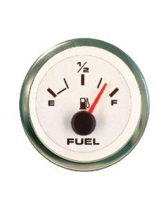 Sierra Premier Pro White Domed Fuel Gauge