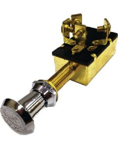 MarineWorks Push Pull Switch, OFF-ON 1-ON 2&3-SPDT, 4 Screw Terminals, Chrome Plated Plastic Knob, 10
