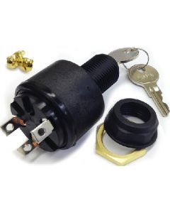 MarineWorks Ignition Switch, OFF-RUN-START, 3 Screw Tab, Polyester MP39780